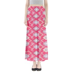 Hot Pink Aztec Maxi Skirt by CoolDesigns