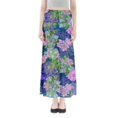 Blue Floral Maxi Skirt by CoolDesigns