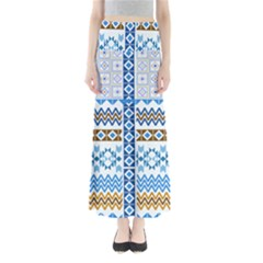 Blue Knitting Maxi Skirt by CoolDesigns