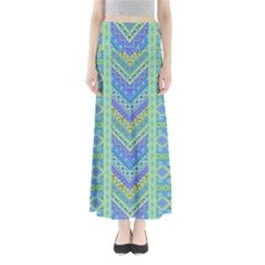Blue Tribal Maxi Skirt by CoolDesigns