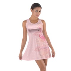 Flamingo Pinky Cotton Racerback Dress by CoolDesigns