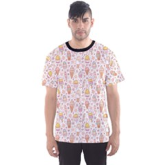Colorful Yummy Ice Cream Pattern Men s Sport Mesh Tee by CoolDesigns