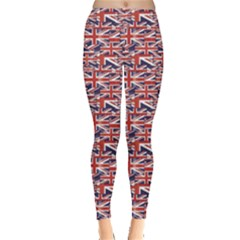 Red Pattern Of British Flag Leggings by CoolDesigns