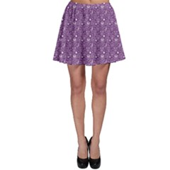 Purple Day Of The Dead Sugar Skull Skater Skirt by CoolDesigns