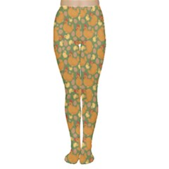 Green Chicken Flat Pattern Women s Tights by CoolDesigns