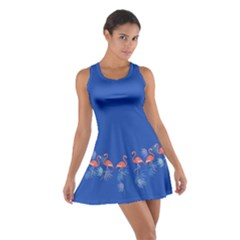 Flamingo Blue Cotton Racerback Dress by CoolDesigns