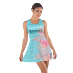 Flamingo Sky Blue Cotton Racerback Dress by CoolDesigns