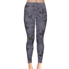 Blue Daisies and Butterflies Handdrawing Women s Leggings by CoolDesigns