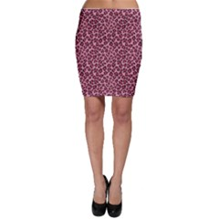 Purple Pink Leopard Texture Pattern Bodycon Skirt by CoolDesigns