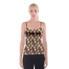 Colorful Pattern Of Tasty Cupcakes Spathetti Strap Top by CoolDesigns