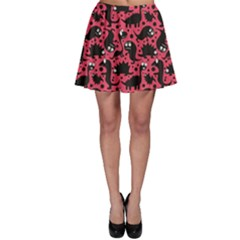 Pink Pattern Funny Dinosaurs Skater Skirt by CoolDesigns