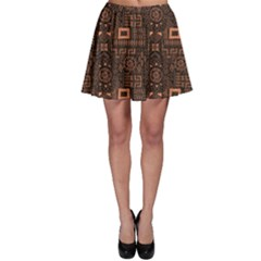 Black Aboriginal Art Indigenous African Patterns Seamless Skater Dress by CoolDesigns