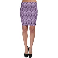Purple With Sea Anchors Stylish Design Bodycon Skirt by CoolDesigns