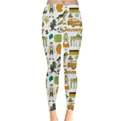 Colorful Fun Colorful Sketch Germany Pattern Leggings by CoolDesigns