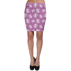 Purple Cute Octopus Stylish Design Bodycon Skirt by CoolDesigns