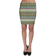 Green Aztec Geometric Pattern Bodycon Skirt by CoolDesigns