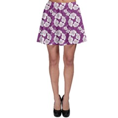 Purple With Hibiscus Flower Hawaiian Patterns Skater Dress by CoolDesigns