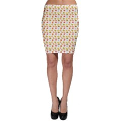 Yellow Pattern Of Basic Math Symbols Bodycon Skirt by CoolDesigns