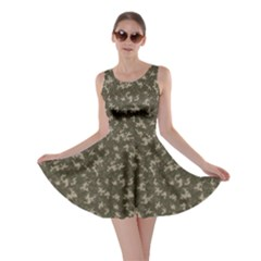 Green Camouflage Pattern Skater Dress by CoolDesigns