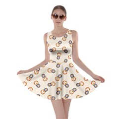 Colorful Matryoshka Russian Wooden Doll Cartoon Pattern Skater Dress by CoolDesigns