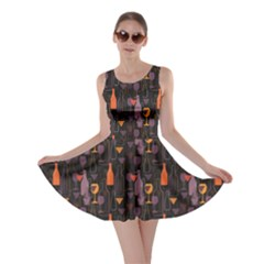 Colorful Pattern For Wines Menu Skater Dress by CoolDesigns