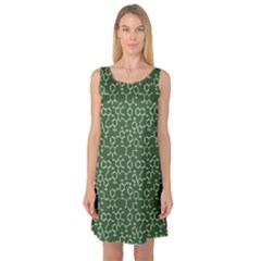 Green Organic Chemistry Pattern With Formulas Sleeveless Satin Nightdress by CoolDesigns