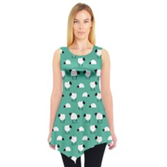 Green Wolf In Sheeps Clothing Wolf Dressed Sleeveless Tunic Top by CoolDesigns