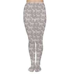 Gray Pattern With Stylized Horses Women s Tights by CoolDesigns
