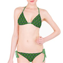 Green Peacock Feathers Bikini Set by CoolDesigns