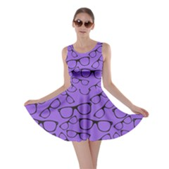 Purple Glasses Skater Dress by CoolDesigns