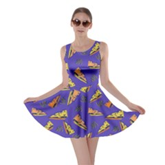 Purple Blue Cheeze Skater Dress by CoolDesigns