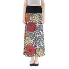 Black Damask Maxi Skirt by CoolDesigns