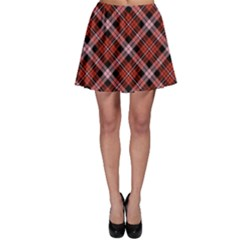 Red 2 Plaid Skater Skirt by CoolDesigns