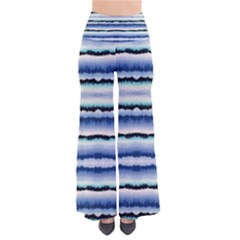 Blue & Black Strips Tie Dye Palazzo Pants by CoolDesigns
