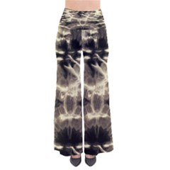 Beige Tie Dye Chic Palazzo Pants by CoolDesigns