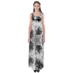 White Tie Dye Empire Waist Maxi Dress by CoolDesigns