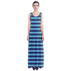 Sailor Stripes Sleeveless Maxi Dress by CoolDesigns