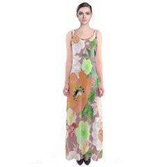Mochafloral Sleeveless Maxi Dress by CoolDesigns
