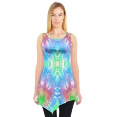Green & Blue Tie Dye Tunic Top by CoolDesigns
