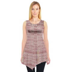 Mocha Check Tie Dye Tunic Top by CoolDesigns