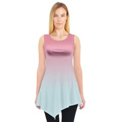 Baby Pink & Blue Gradient Tie Dye Tunic Top by CoolDesigns