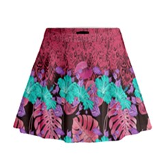 Coral Hawaii Mini Flare Skirt by CoolDesigns