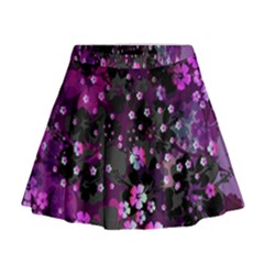 Magenta Hawaii Mini Flare Skirt by CoolDesigns