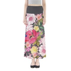 Gray Floral Maxi Skirt by CoolDesigns