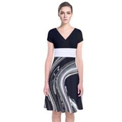Marbel 2 Short Sleeve Front Wrap Dress