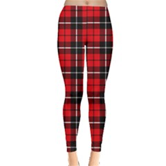 Xmas Check Leggings  by CoolDesigns