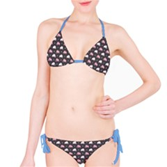 Blue Elephants Pattern Bikini Set by CoolDesigns