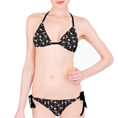 Black Pole Dancer Silhouette Bikini Set by CoolDesigns