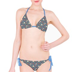 Blue Hummingbird And Tropical Bikini Set by CoolDesigns