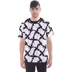 Black Retro Black And White Circle Men s Sport Mesh Tee by CoolDesigns